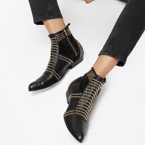 Anine Bing Shoes - Anine Bing Studded Black Charlie Boots Size 37
